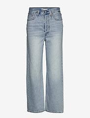 LEVI´S Women - RIBCAGE STRAIGHT ANKLE MIDDLE - broeken met wijde pijpen - light indigo - worn in - 0