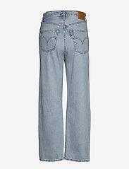 LEVI´S Women - RIBCAGE STRAIGHT ANKLE MIDDLE - broeken met wijde pijpen - light indigo - worn in - 1