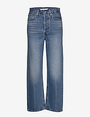 LEVI´S Women - RIBCAGE STRAIGHT ANKLE AT THE - brede jeans - med indigo - worn in - 2
