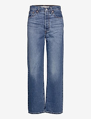LEVI´S Women - RIBCAGE STRAIGHT ANKLE NOE FOG - brede jeans - dark indigo - worn in - 0
