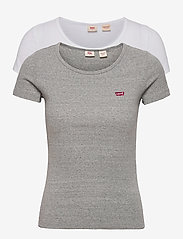 LEVI´S Women - 2PACK TEE 2 PACK TEE WHITE +/S - t-shirts - neutrals - 0