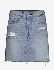 LEVI´S Women - HR DECON ICONIC BF SKIRT GATEW - denimnederdele - med indigo - flat finish - 0
