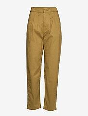 LEVI´S Women - PLEATED BALLOON DULL GOLD FINE - bukser med lige ben - neutrals - 0
