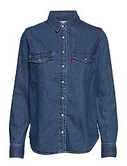 ESSENTIAL WESTERN GOING STEADY - MED INDIGO - FLAT FINISH