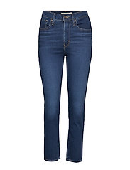 724 High Rise Straight London Raka Jeans Blå LEVI´S WOMEN