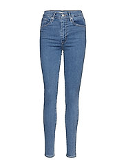 MILE HIGH SUPER SKINNY OUT THE - MED INDIGO - FLAT FINISH