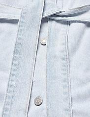 LEVI´S Women - REVERSIBLE SHERPA COAT REVERSE - dunne jassen - med indigo - worn in - 7