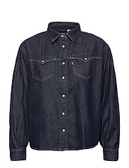 PAYTON LS WESTERN TONGUE TWIST - DARK INDIGO - FLAT FINISH