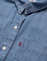 LEVI´S Women - ZOEY PLEAT UTILITY SHIRT STAY - long-sleeved shirts - med indigo - flat finish - 2
