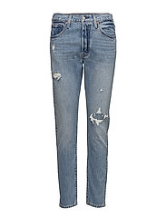 501 SKINNY CANT TOUCH THIS - MED INDIGO - WORN IN
