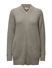 Zip Front Cardi Snow Grey Heat thumbnail