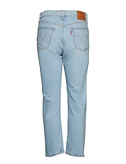 LEVI´S Women - 501 CROP DIBS W/ TAPE - straight jeans - light indigo - worn in - 1