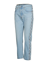 LEVI´S Women - 501 CROP DIBS W/ TAPE - straight jeans - light indigo - worn in - 2