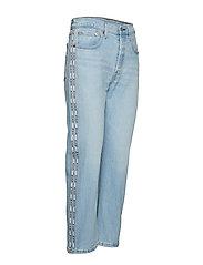 LEVI´S Women - 501 CROP DIBS W/ TAPE - straight jeans - light indigo - worn in - 3