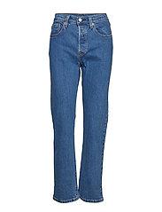 501 Crop Jive St Wash Boyfriend Jeans Blå LEVI´S WOMEN