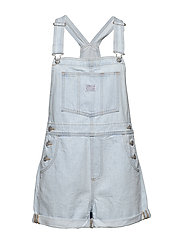 VINTAGE SHORTALL CAUGHT NAPPIN - LIGHT INDIGO - WORN IN