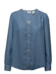 MALIKA SHIRT LIGHT MID WASH - LIGHT MID WASH