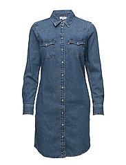 ULTIMATE WESTERN DRESS BACK TO - MED INDIGO - FLAT FINISH