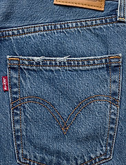 LEVI´S Women - RIBCAGE STRAIGHT ANKLE AT THE - brede jeans - med indigo - worn in - 6