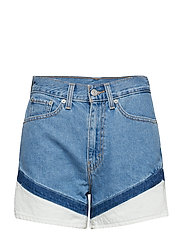 MOM A LINE SHORT ON YOUR MARKS - LIGHT INDIGO - WORN IN