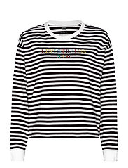 GRAPHIC LONG SLEEVE TEE STRIPE - NEUTRALS
