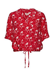 PALOMA SHIRT FLIPPED FLORAL BR - REDS