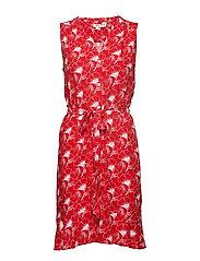 NEDA SLEEVELESS DRESS FLIPPED - REDS