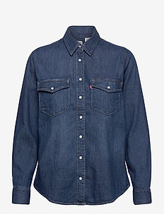 ESSENTIAL WESTERN AIR SPACE 2 - jeansblouses - dark indigo - flat finish