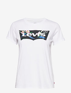 THE PERFECT TEE FLORAL FILLED - logo t-shirts - neutrals