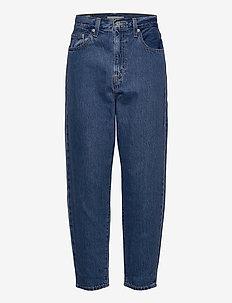 HIGH LOOSE TAPER HOLD MY PURSE - boyfriend jeans - med indigo - flat finish