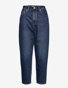 HIGH LOOSE TAPER CLASS ACT - tapered jeans - dark indigo - worn in