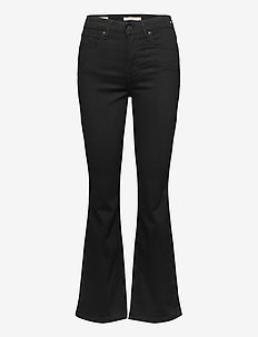 725 HIGH RISE BOOTCUT BLACK SH - utsvängda jeans - blacks