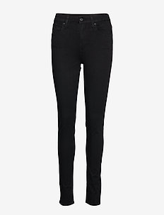 721 HIGH RISE SKINNY LONG SHOT - jeans skinny - blacks