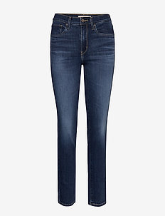 724 HIGH RISE STRAIGHT CARBON - skinny jeans - med indigo - flat finish