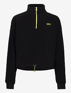 TREKKER QUARTER ZIP CAVIAR - sweatshirts - blacks