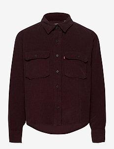 OLSEN UTILITY SHIRT GD MALBEC - langærmede skjorter - reds