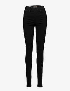 MILE HIGH SUPER SKINNY BLACK G - jeans skinny - black galaxy