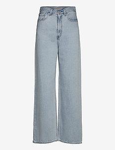 HIGH LOOSE LOOSEY GOOSEY - broeken met wijde pijpen - light indigo - flat finis