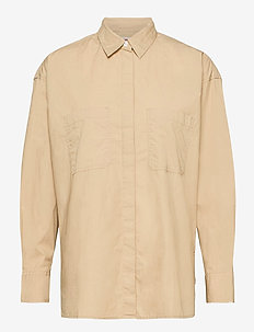 EUNICE UTILITY SHIRT SAFARI - långärmade skjortor - neutrals
