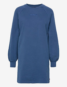 FRANNIE SWEATSHIRT DRESS NAVY - hverdagskjoler - blues