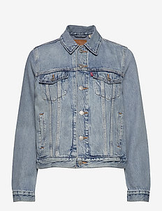 ORIGINAL TRUCKER ALL MINE - denimjakker - med indigo - worn in