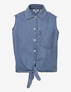 RUMI BTTN SHIRT GDAY MATE - jeansjackor - med indigo - worn in