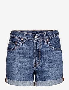 501 ROLLED SHORT ORINDA TROY S - denim shorts - dark indigo - worn in