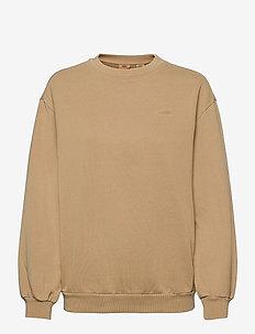 MELROSE SLOUCHY CREW INCENSE G - sweatshirts - neutrals