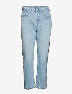 501 CROP DIBS W/ TAPE - straight jeans - light indigo - worn in