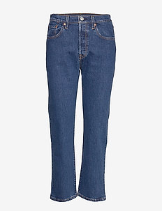 501 CROP CHARLESTON VISION - jeans droites - light indigo - worn in