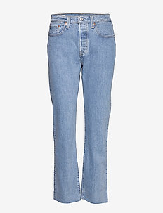 501 CROP TANGO BEATS - straight jeans - light indigo - worn in