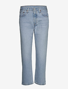 501 CROP LUXOR RA - straight jeans - light indigo - worn in