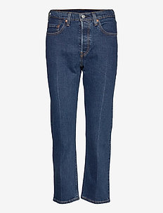 501 CROP CHARLESTON PRESSED - straight jeans - dark indigo - flat finish