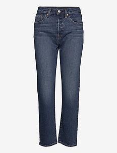 501 CROP CHARLESTON OUTLASTED - straight jeans - dark indigo - worn in
